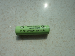 1.2V,600mAh,AA Ni-MH battery