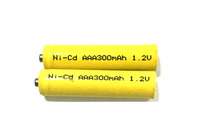 1.2V,AAA 300mAh,Ni-Cd battery rechargable