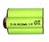 3.6V 1200mAh ,AA Ni-MH battery rechargable.