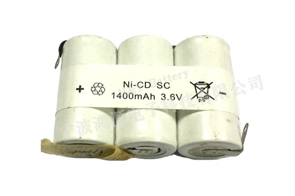 3.6V,1400mAh, Ni-Cd battery